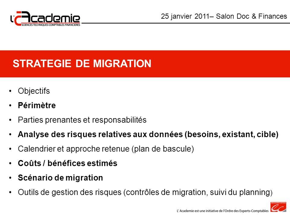 STRATEGIE DE MIGRATION
