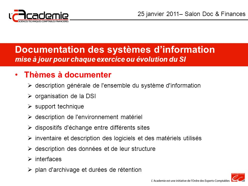 25 janvier 2011– Salon Doc & Finances