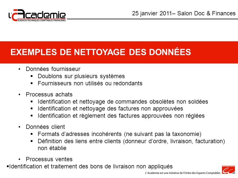 Exemples de Nettoyage des données
