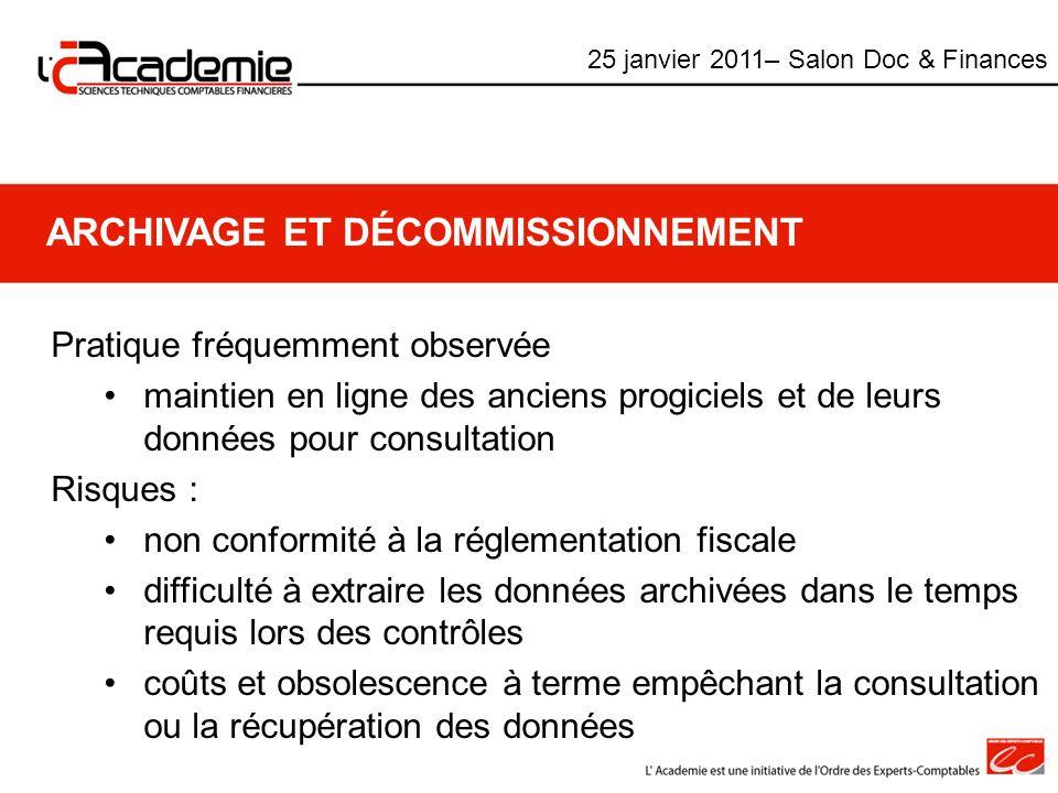 Archivage et décommissionnement