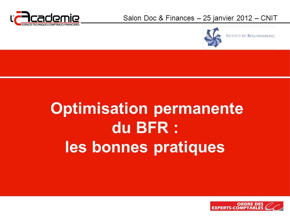 Optimisation permanente du BFR : les bonnes pratiques