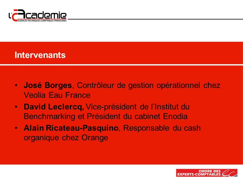 IntervenantsJosé Borges, Contrôleur de gestion opérationnel chez Veolia Eau France.