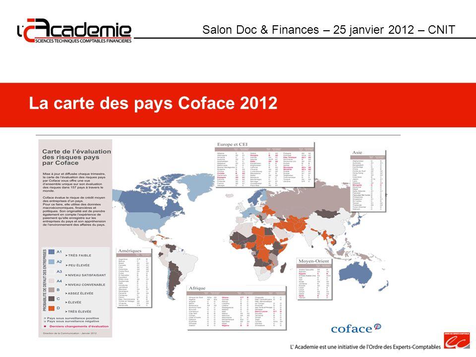 La carte des pays Coface 2012