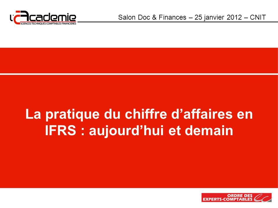 La pratique du chiffre d'affaires en IFRS : aujourd'hui et demain