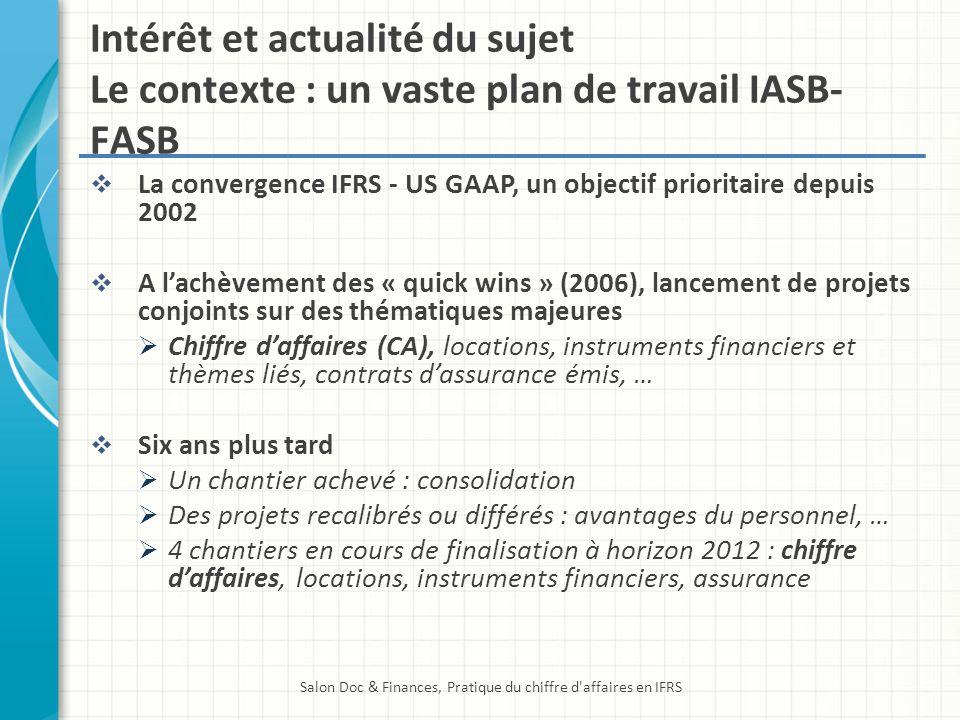 Salon Doc & Finances, Pratique du chiffre d affaires en IFRS