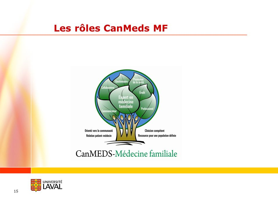 Les rôles CanMeds MF