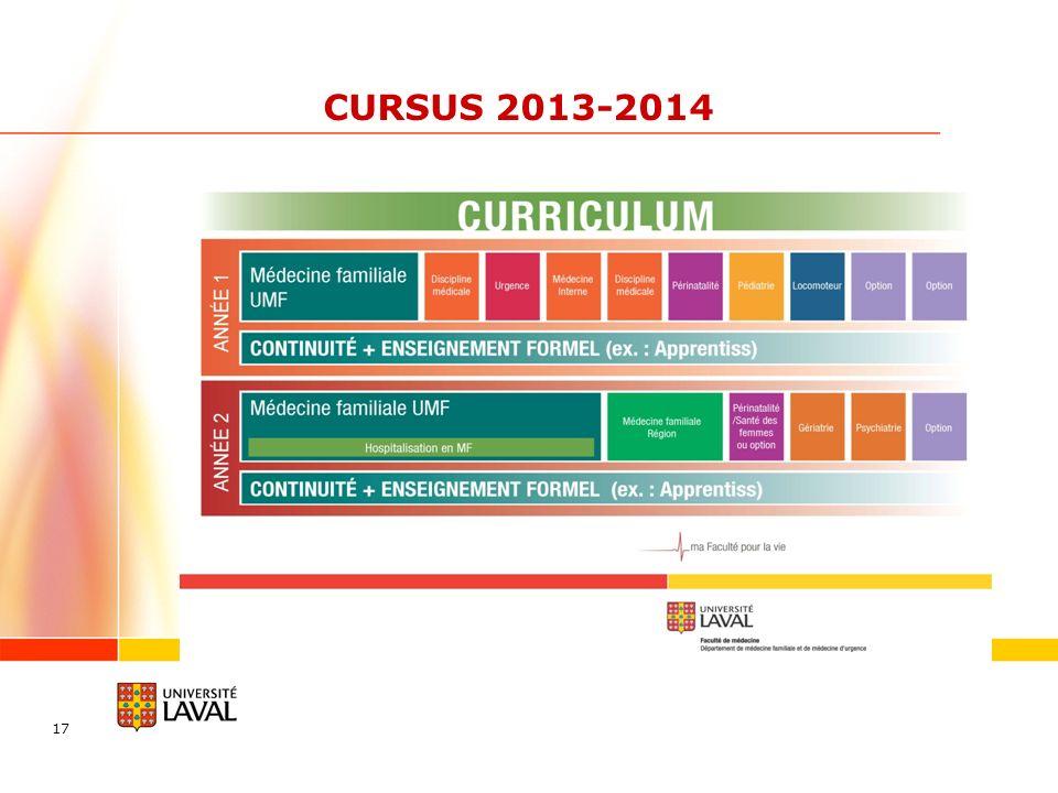CURSUS 2013-2014