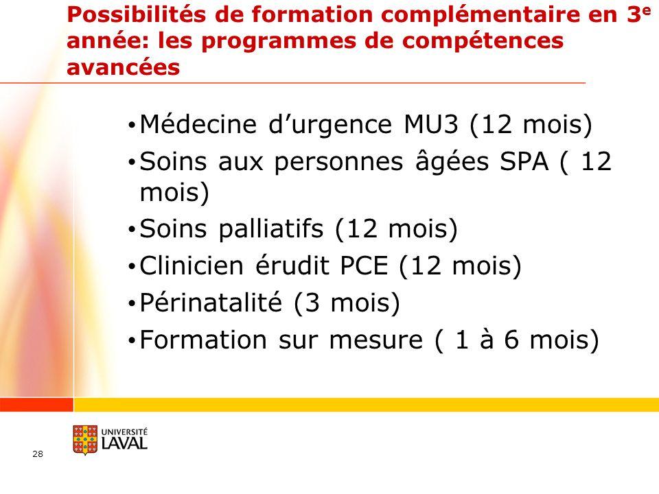 Médecine d'urgence MU3 (12 mois)