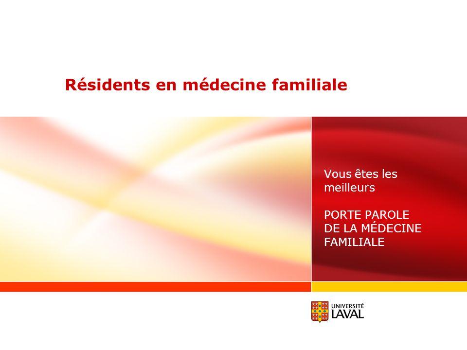 Résidents en médecine familiale