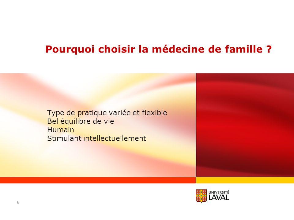 Pourquoi choisir la médecine de famille