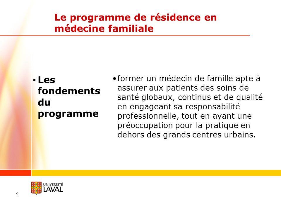 Le programme de résidence en médecine familiale