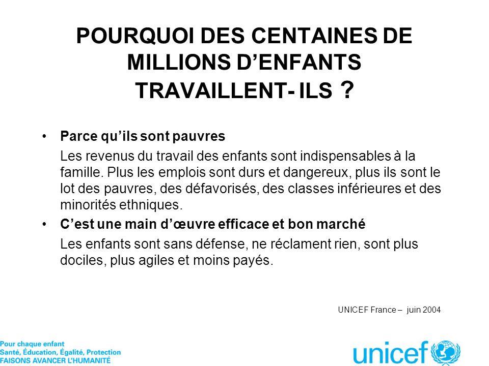 POURQUOI DES CENTAINES DE MILLIONS D'ENFANTS TRAVAILLENT- ILS