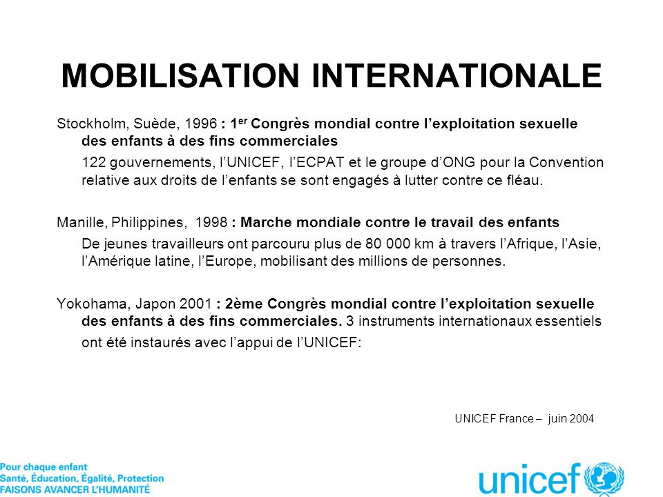 MOBILISATION INTERNATIONALE