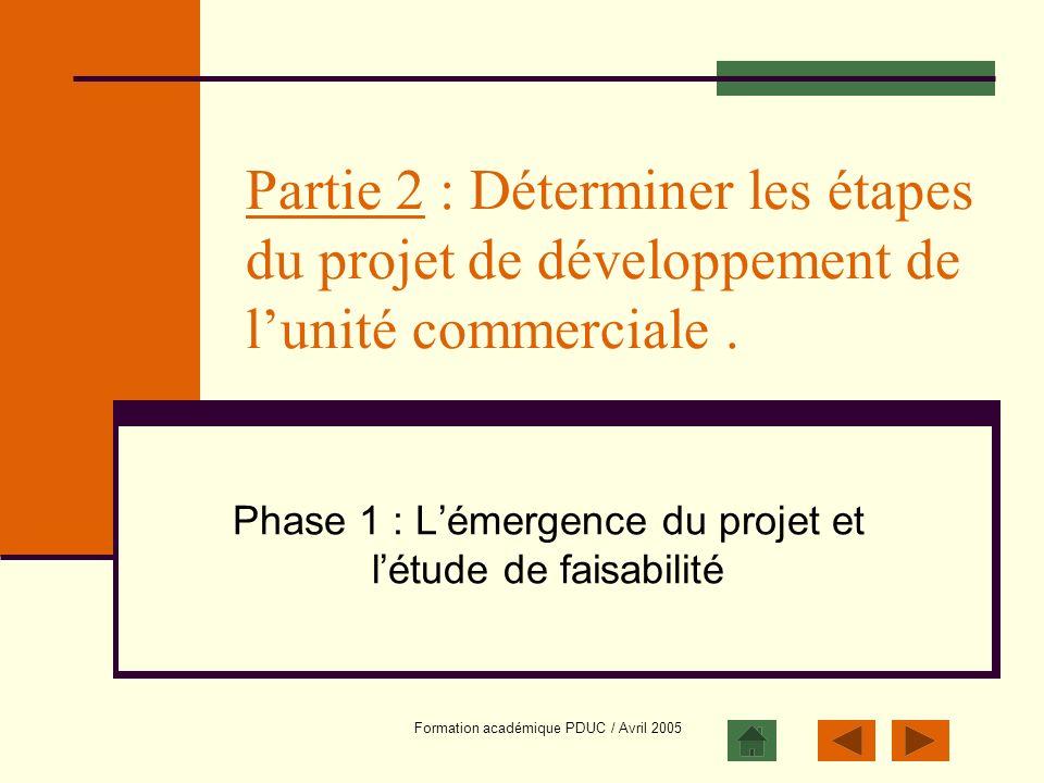 Phase 1 : L'émergence du projet et l'étude de faisabilité