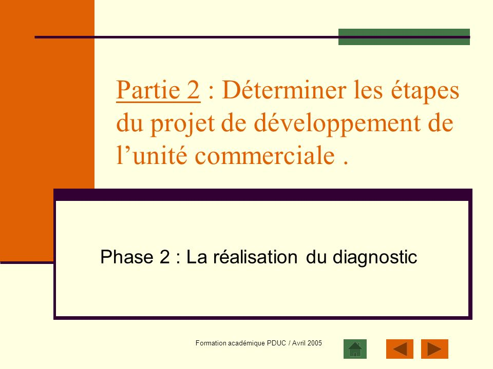 Phase 2 : La réalisation du diagnostic