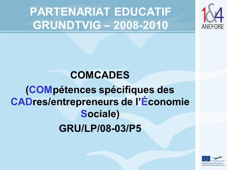 PARTENARIAT EDUCATIF GRUNDTVIG – 2008-2010