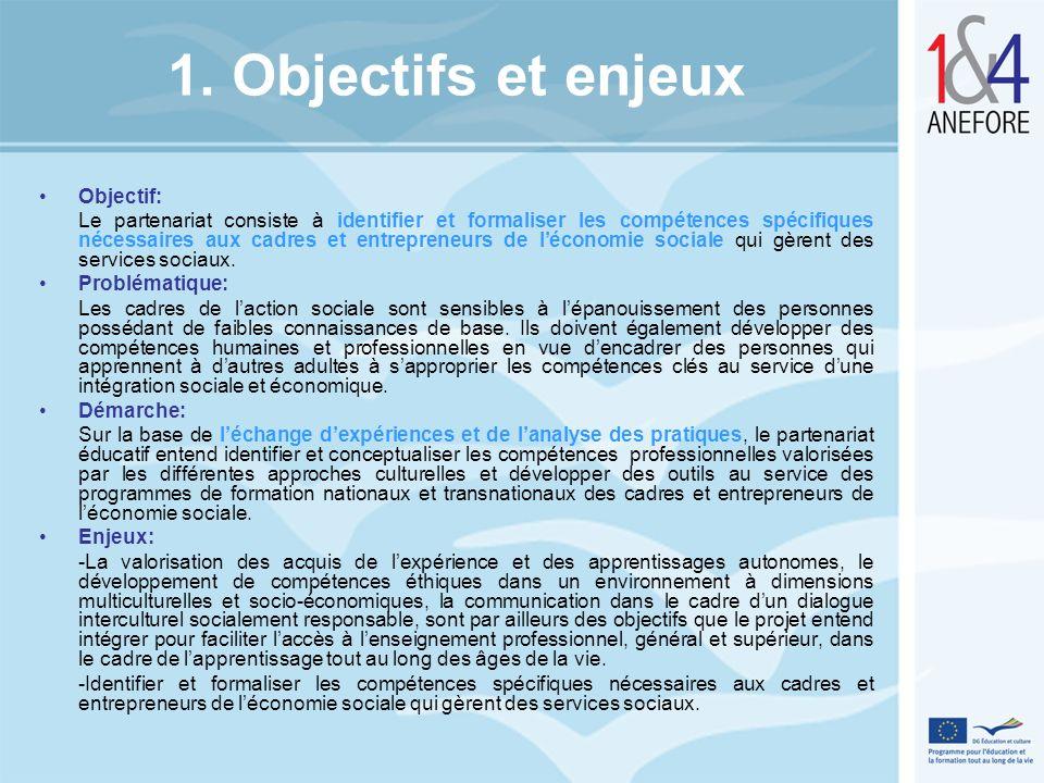 1. Objectifs et enjeux Objectif: