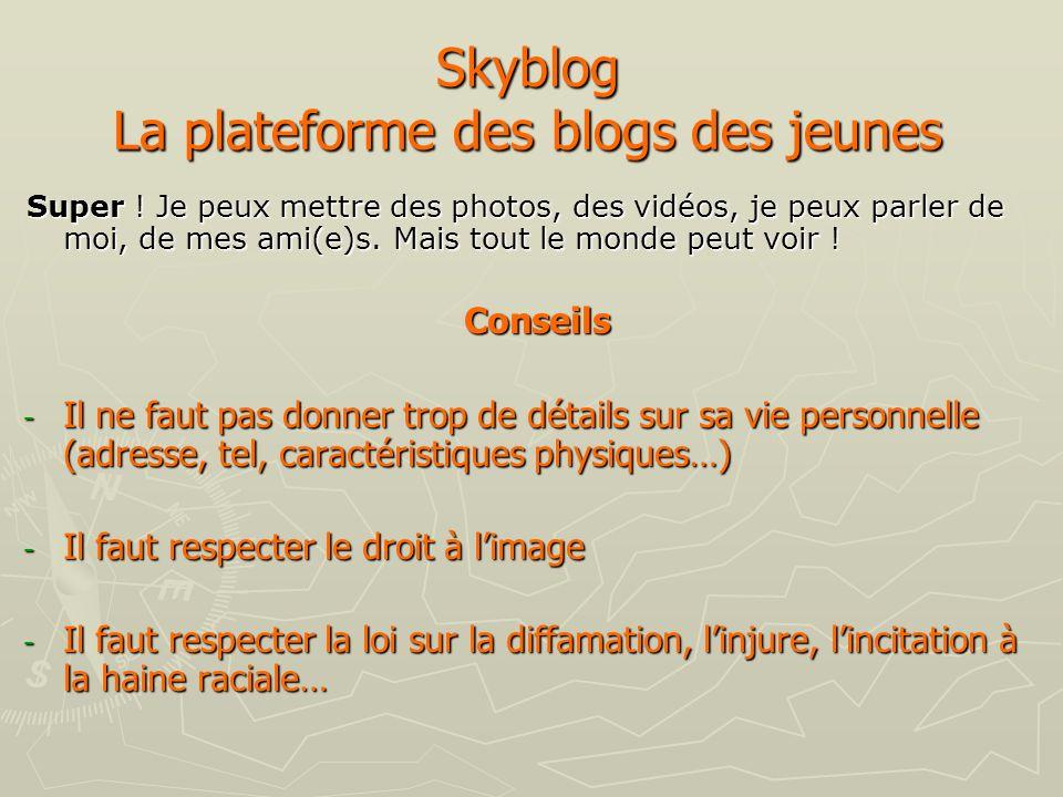 Skyblog La plateforme des blogs des jeunes