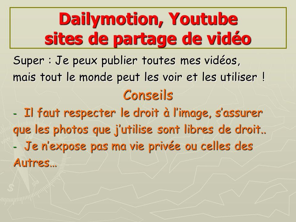 Dailymotion, Youtube sites de partage de vidéo