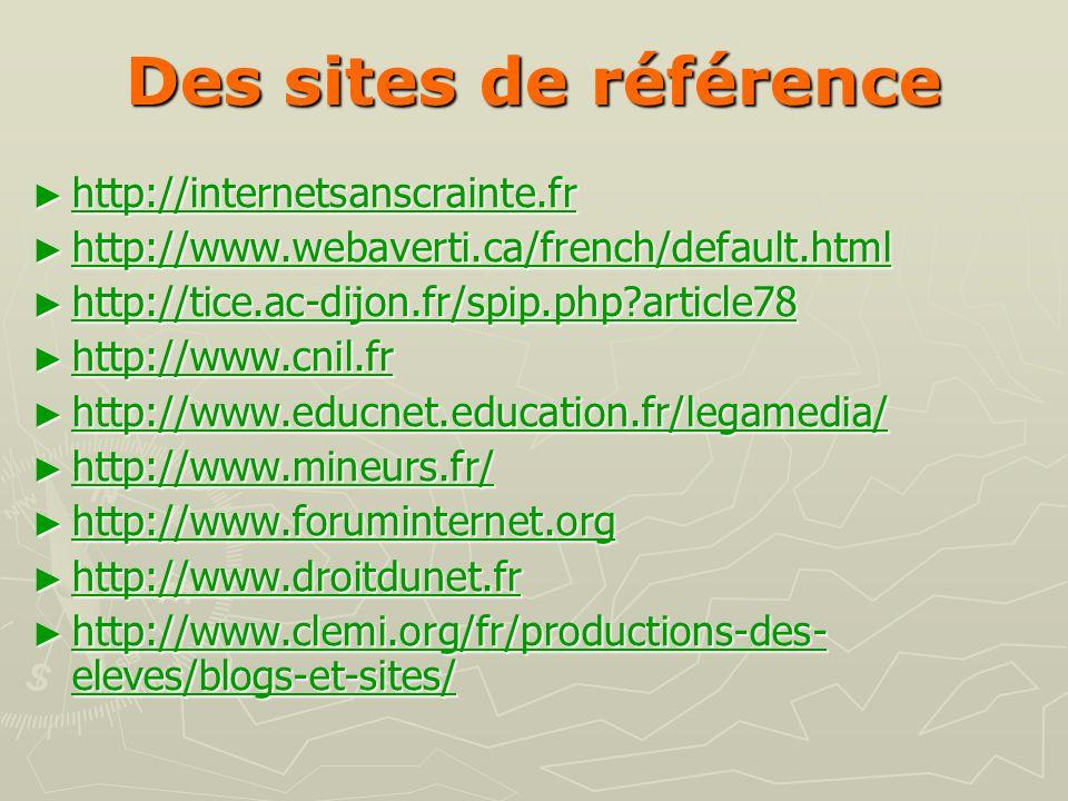 Des sites de référence http://internetsanscrainte.fr