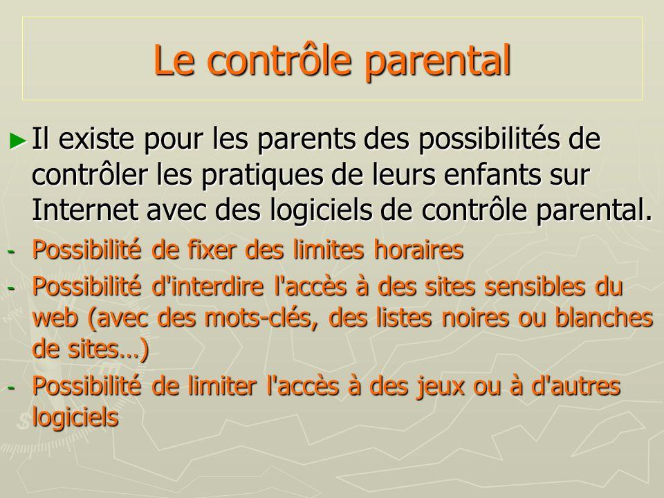Le contrôle parental