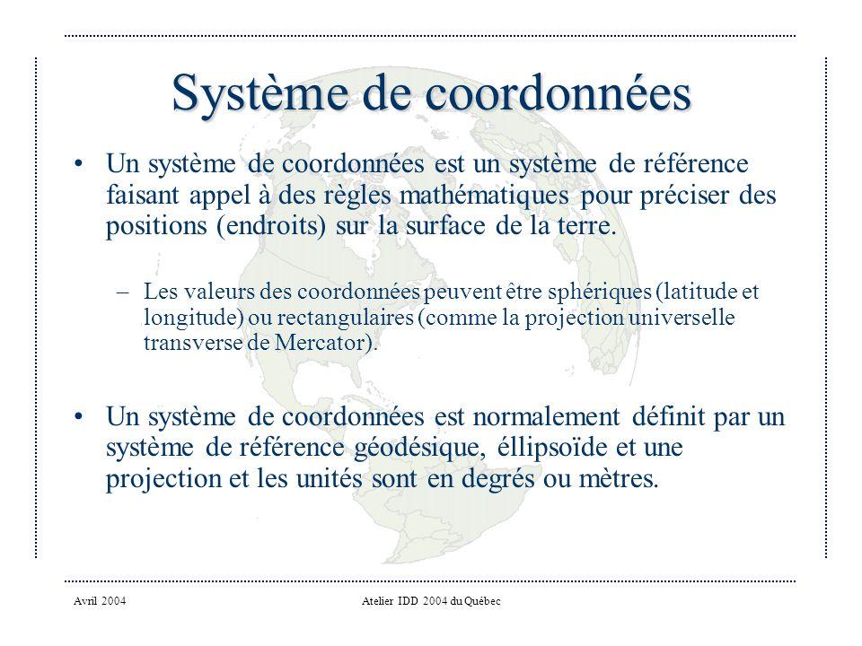 Système de coordonnées