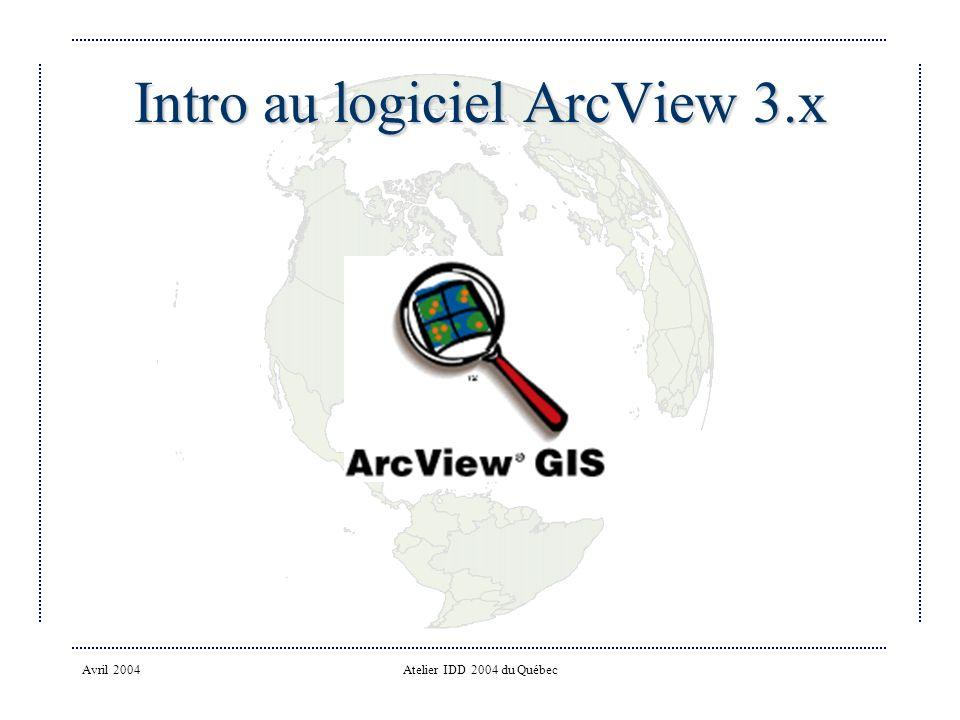 Intro au logiciel ArcView 3.x