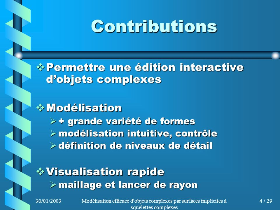 Contributions Permettre une édition interactive d'objets complexes