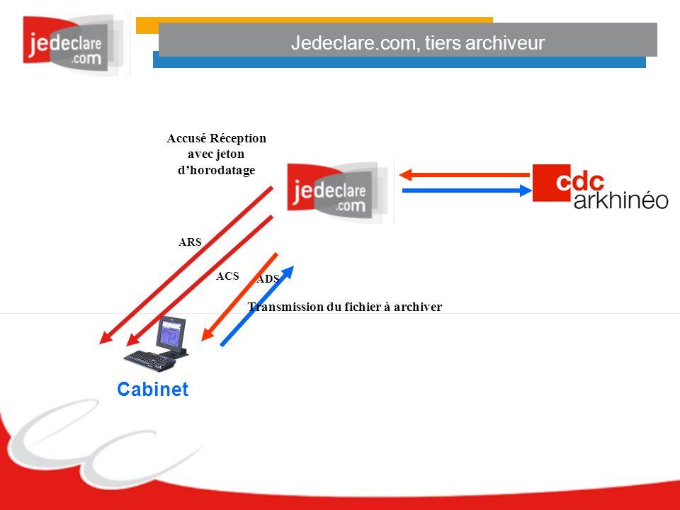 Jedeclare.com, tiers archiveur