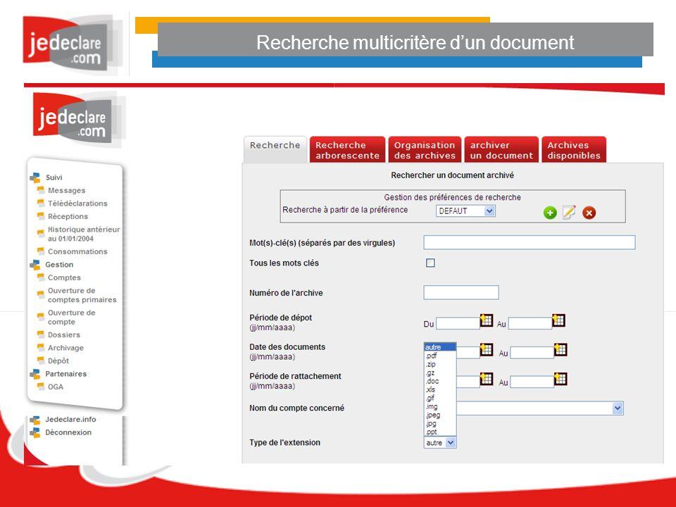 Recherche multicritère d'un document