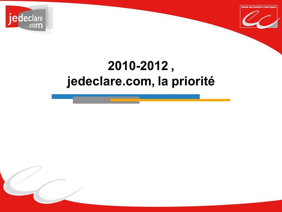 2010-2012 , jedeclare.com, la priorité