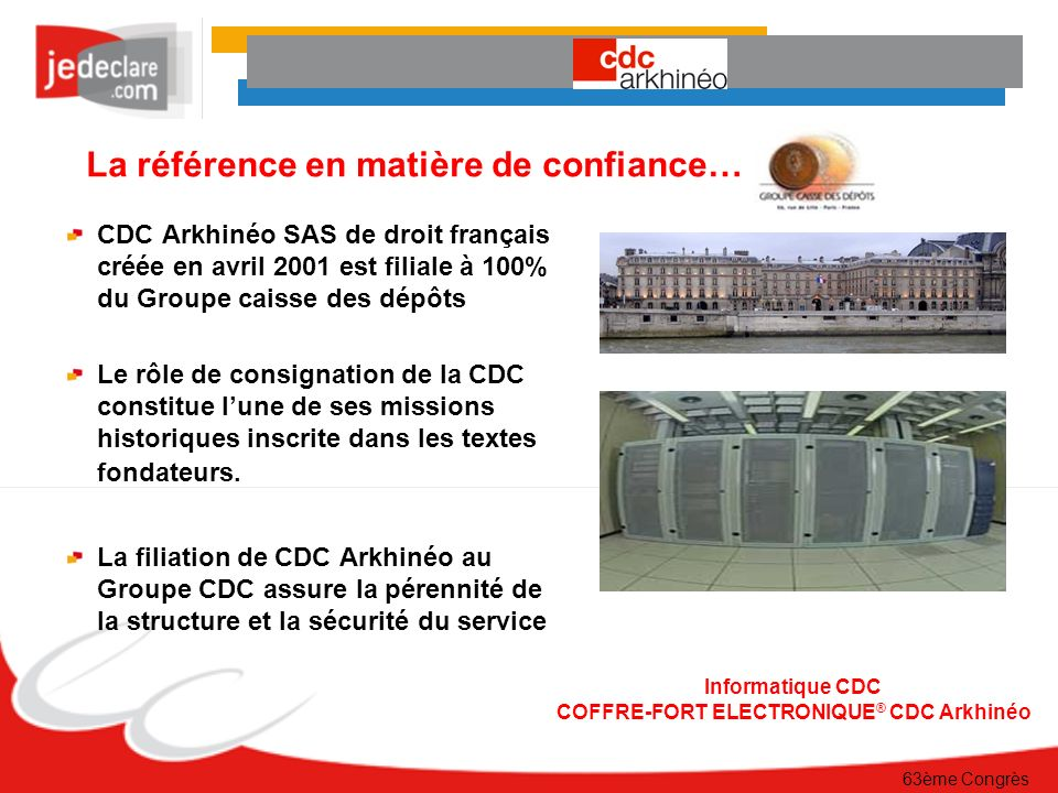 COFFRE-FORT ELECTRONIQUE® CDC Arkhinéo