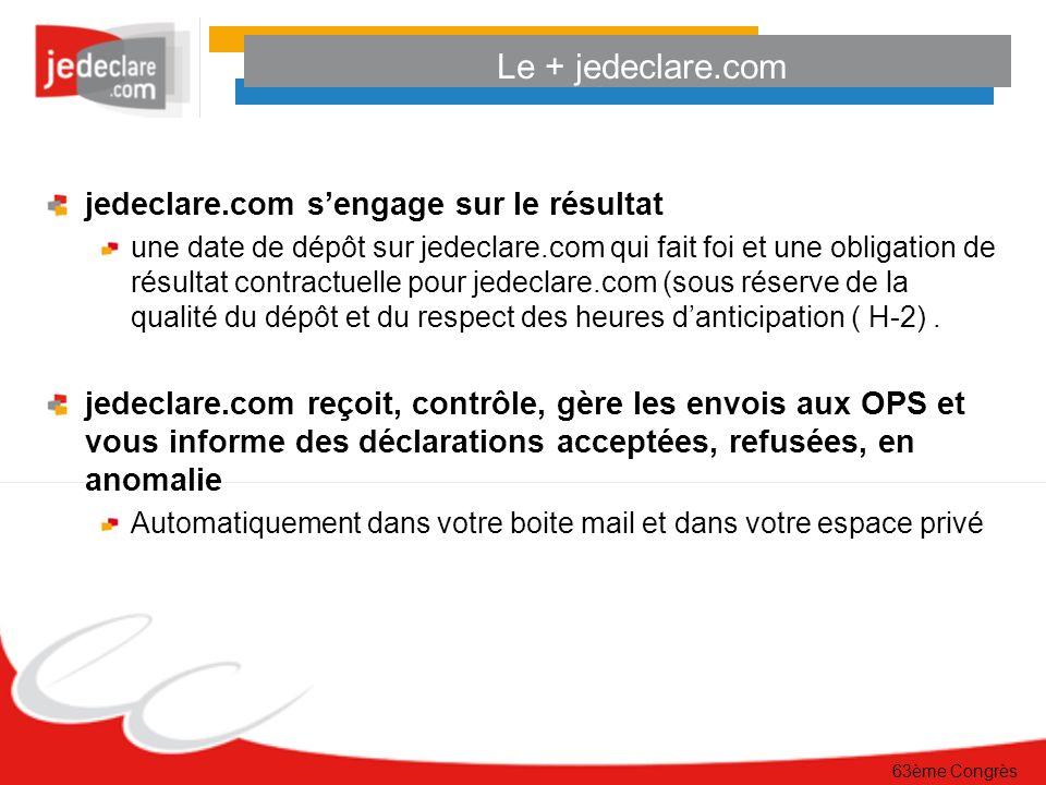 Le + jedeclare.com jedeclare.com s'engage sur le résultat