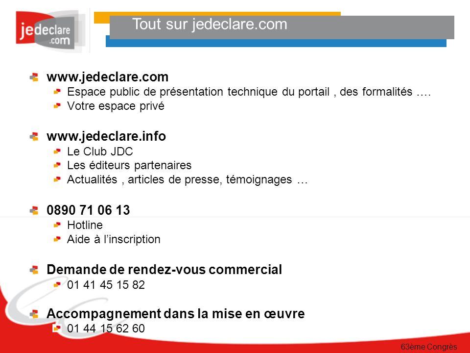 Tout sur jedeclare.com www.jedeclare.com www.jedeclare.info