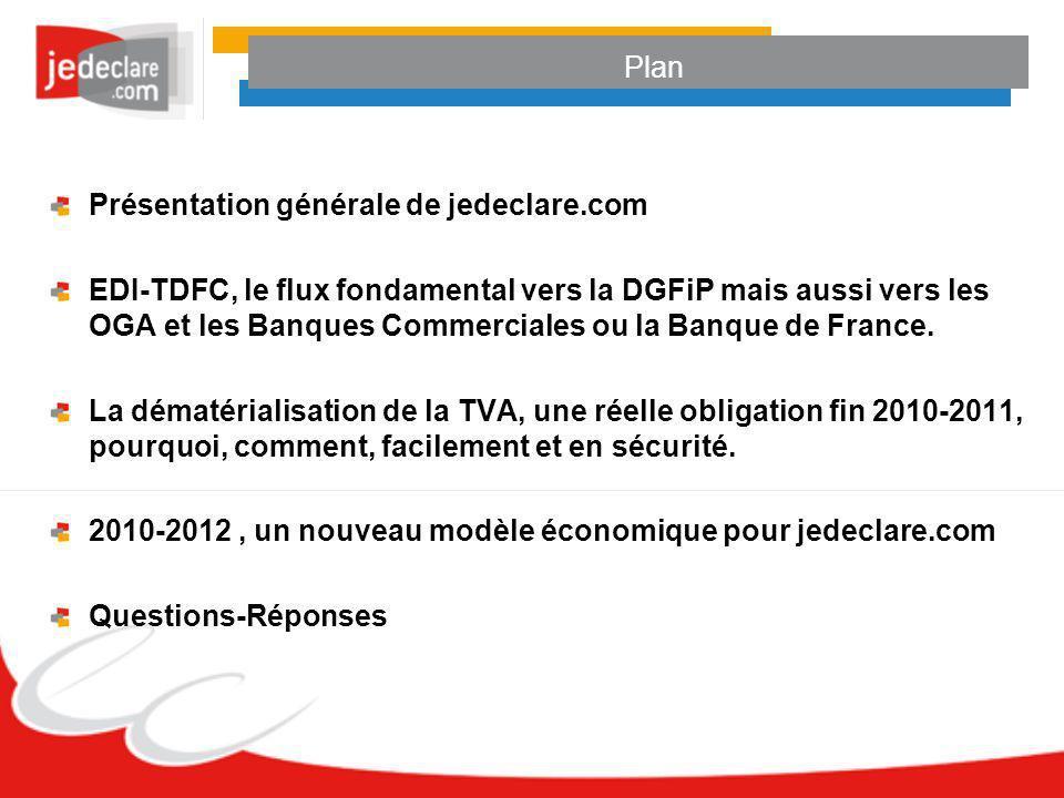 Plan Présentation générale de jedeclare.com.
