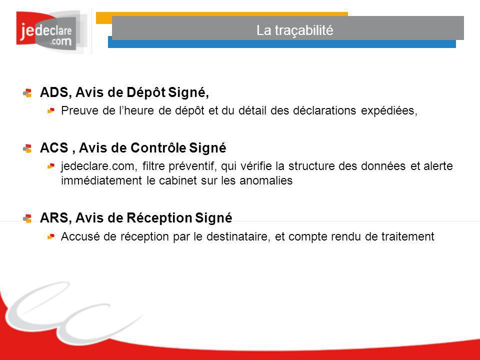 ACS , Avis de Contrôle Signé