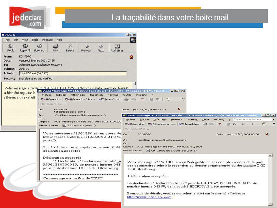 La traçabilité dans votre boite mail