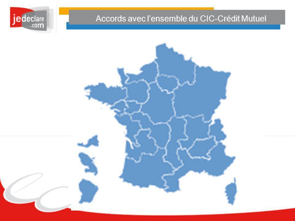 Accords avec l'ensemble du CIC-Crédit Mutuel