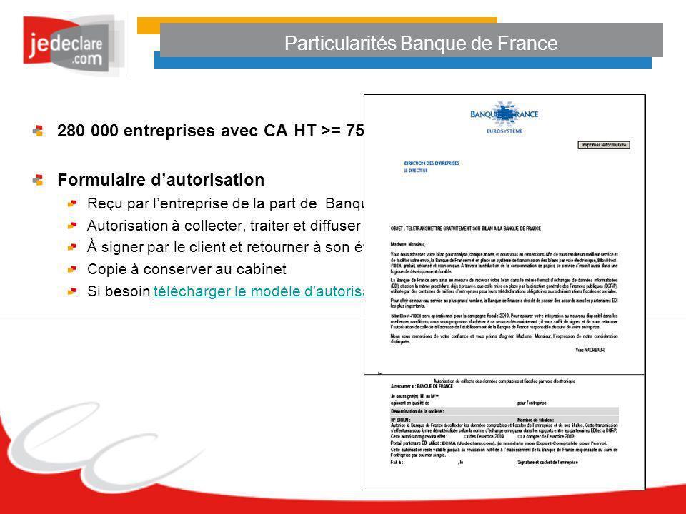 Particularités Banque de France