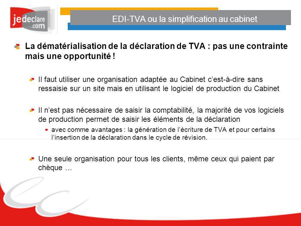 EDI-TVA ou la simplification au cabinet