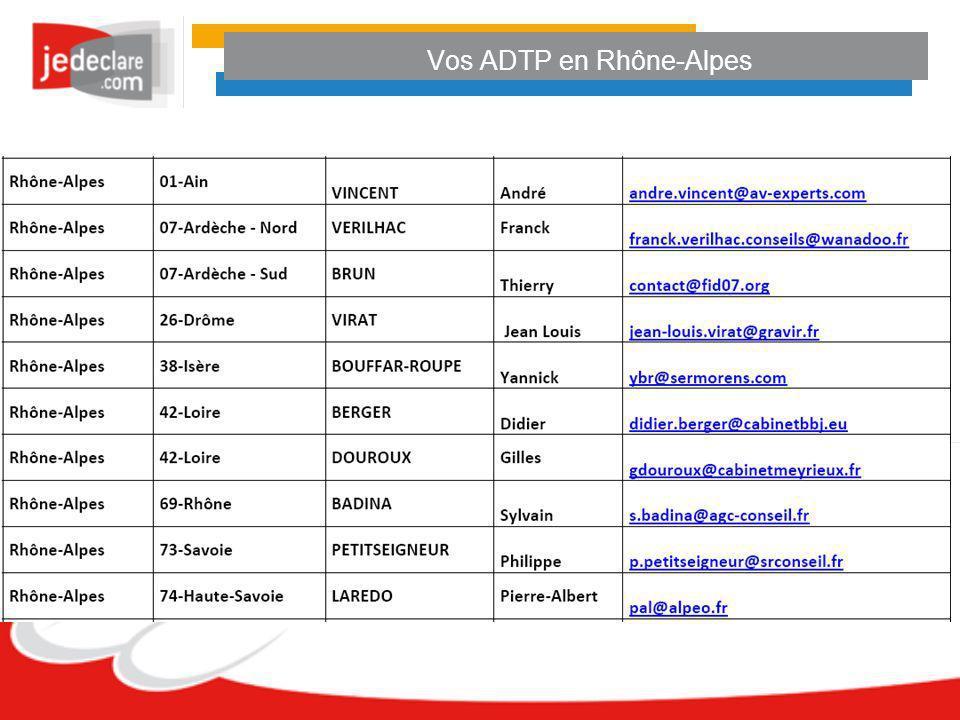 Vos ADTP en Rhône-Alpes