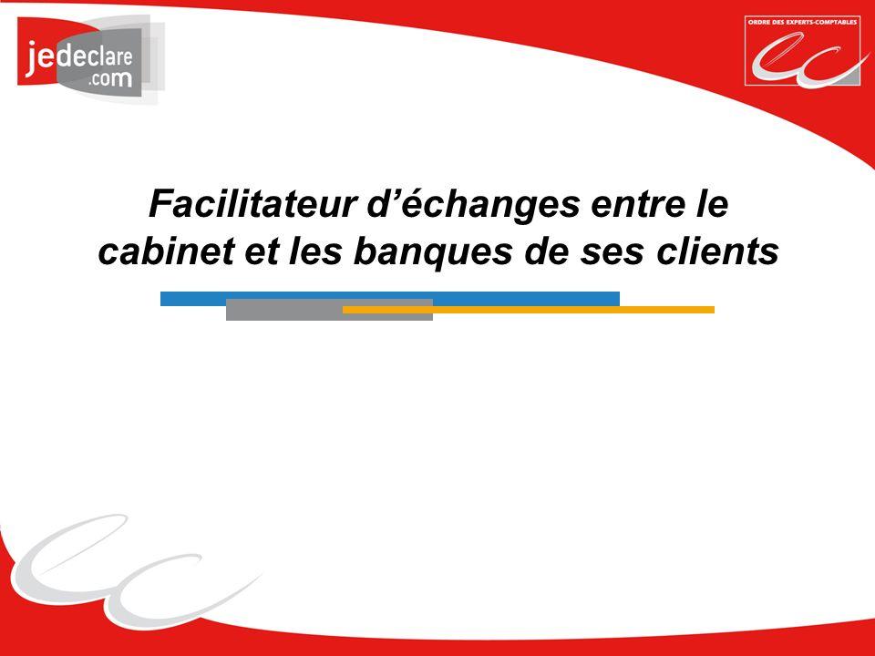 Facilitateur d'échanges entre le cabinet et les banques de ses clients