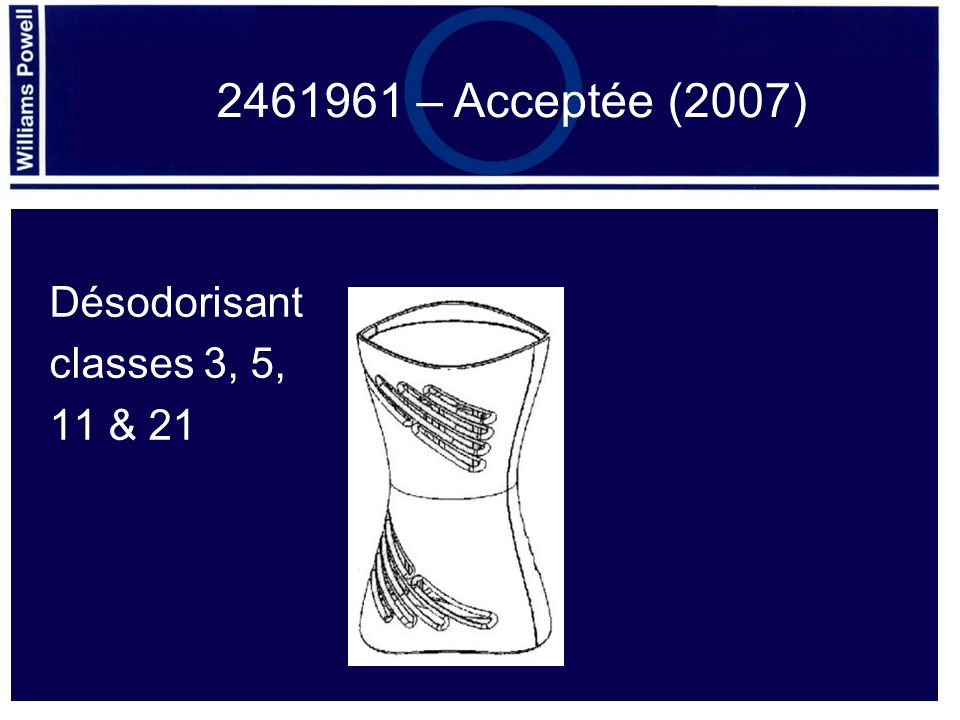 Désodorisant classes 3, 5, 11 & 21