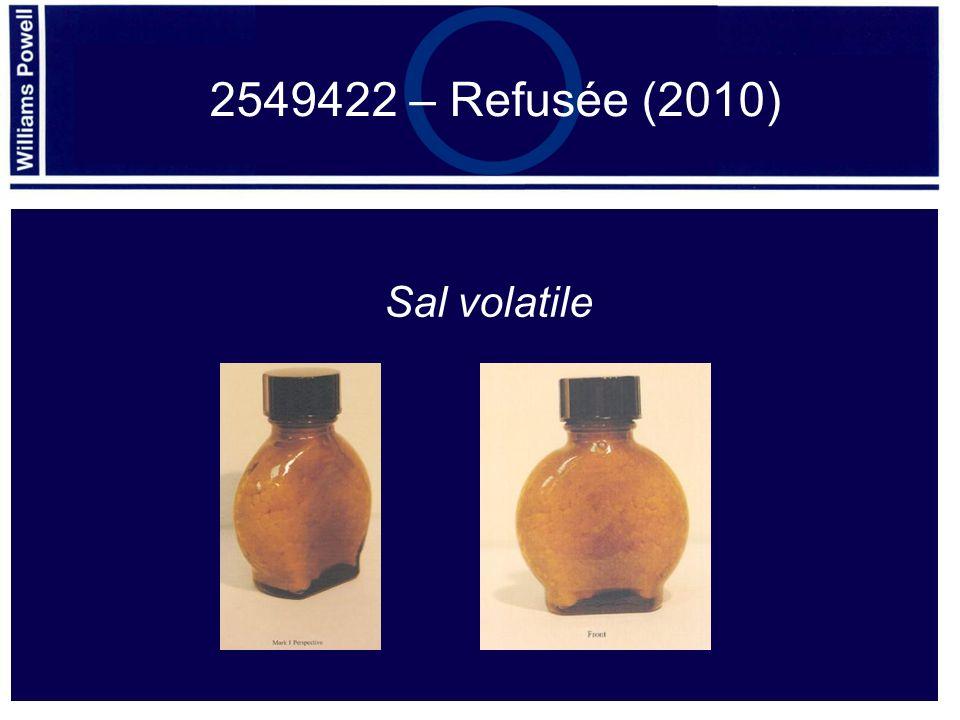2549422 – Refusée (2010) Sal volatile