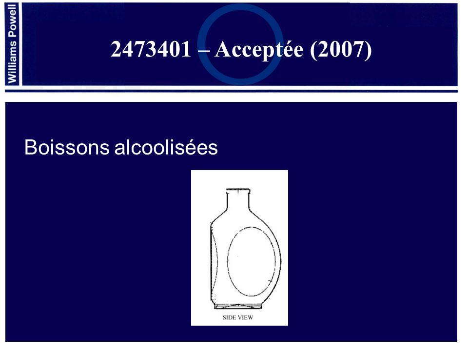 2473401 – Acceptée (2007) Boissons alcoolisées