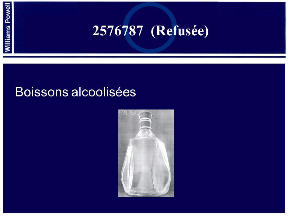 2576787 (Refusée) Boissons alcoolisées