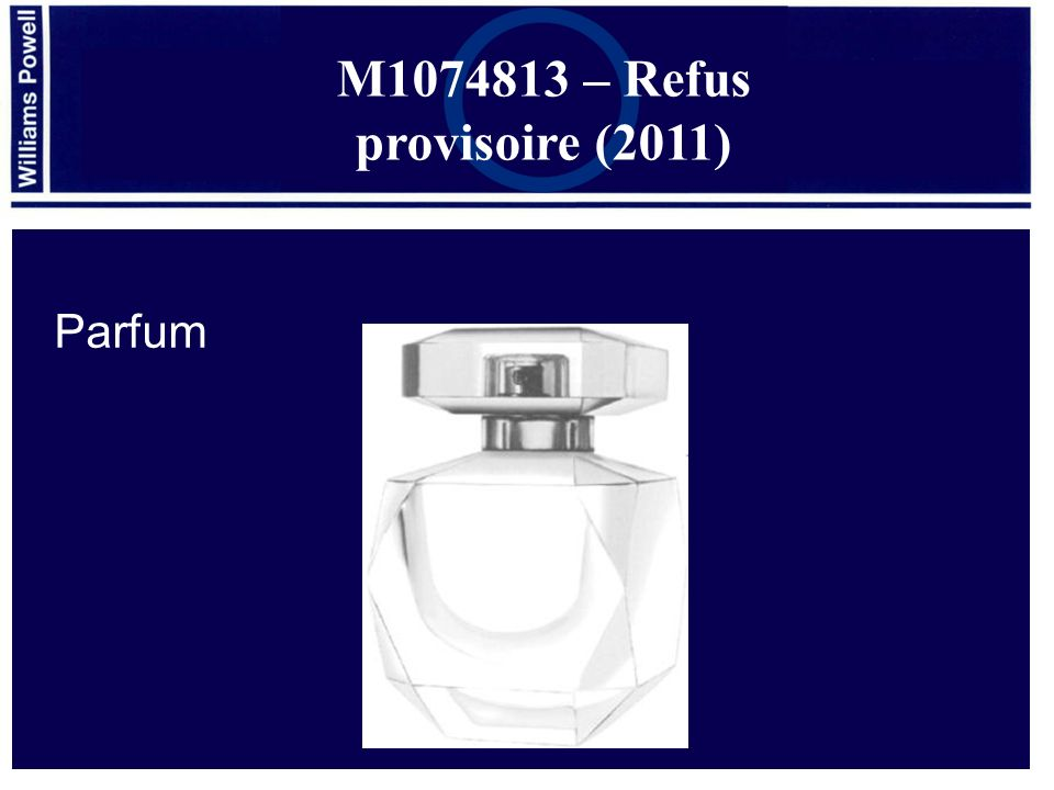 M1074813 – Refus provisoire (2011) Parfum