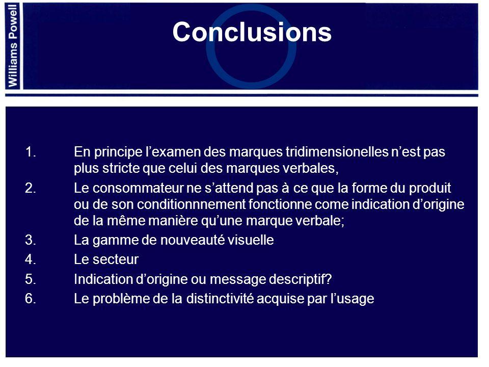 Conclusions 1. Le cadre législatif