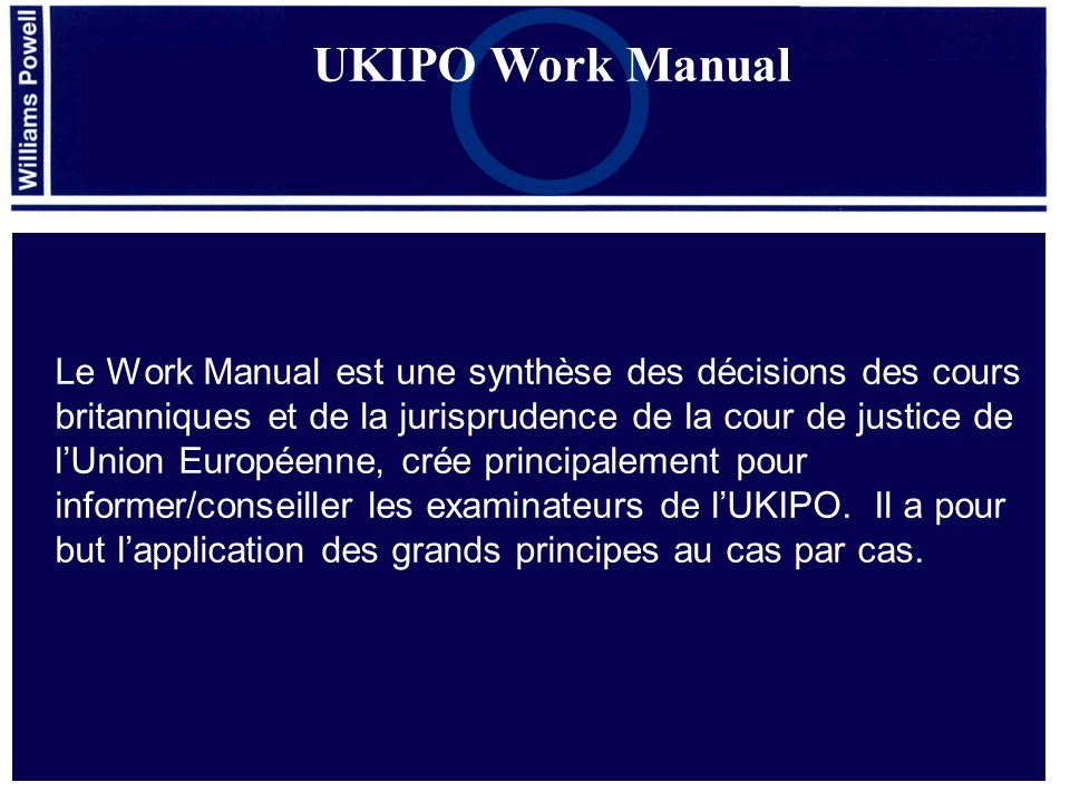 UKIPO Work Manual