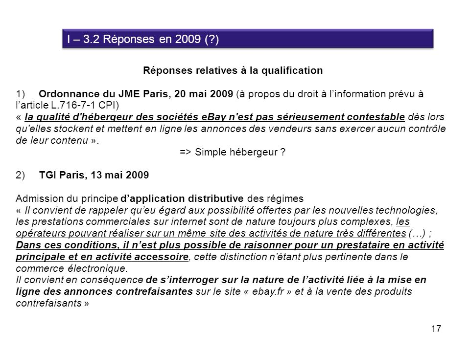Réponses relatives à la qualification